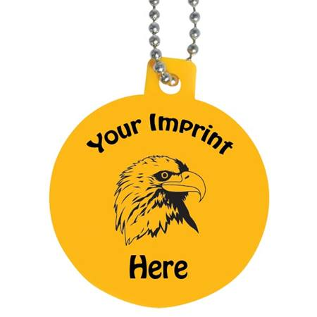 Eco-Friendly Plastic Dog Tag - Round