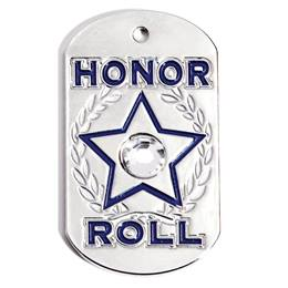 Dog Tag - Honor Roll Paw Bling