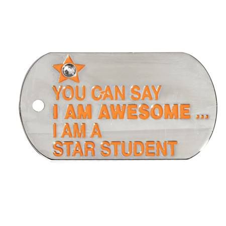 Bling Dog Tag - Awesome Star Student