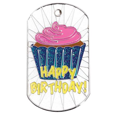 Glitter Dog Tag - Happy Birthday