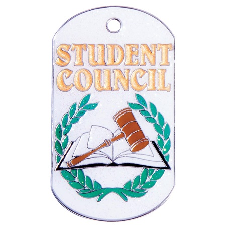 Dog Tag - Student Council Glitter