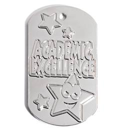 Embossed Dog Tag - Academic Excellence Stars