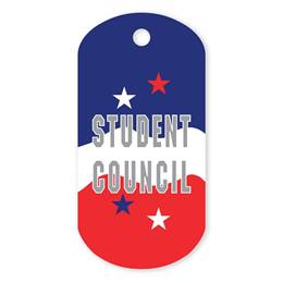 Student Council Plastic-Coated Dog Tag