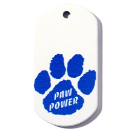 Paw Power Plastic-Coated Dog Tag