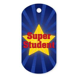 Super Student Plastic-Coated Dog Tag