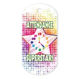 Attendance Plastic-Coated Dog Tag
