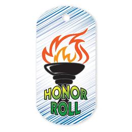 Honor Roll Plastic-Coated Dog Tag