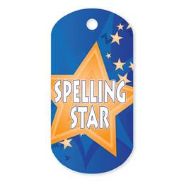Spelling Plastic-Coated Dog Tag