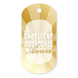 Excellent Attendance Plastic-Coated Dog Tag