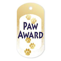 Gold Paw Plastic-Coated Dog Tag