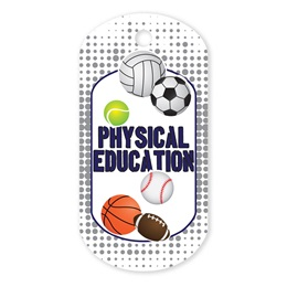 Physical Education Plastic-Coated Dog Tag
