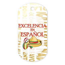 Spanish Excellence Plastic-Coated Dog Tag