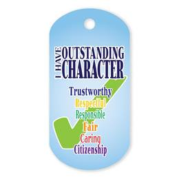 Character Plastic-Coated Dog Tag
