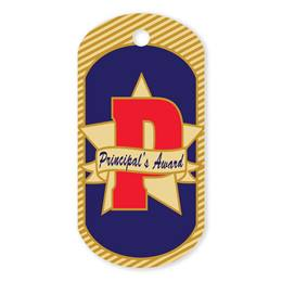 Principal's Award Plastic-Coated Dog Tag