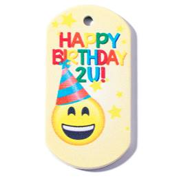 Birthday Plastic-Coated Dog Tag