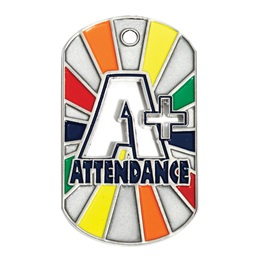 Die Cut Dog Tag - A+ Attendance
