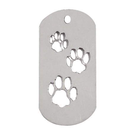 Die Cut Dog Tag - Paw Prints
