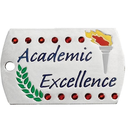 Bling Dog Tag - Academic Excellence