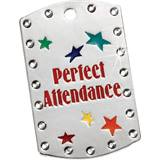 Bling Dog Tag - Perfect Attendance