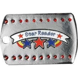 Bling Dog Tag - Star Reader