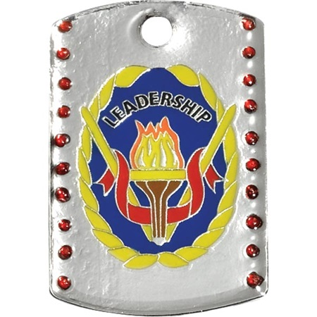 Bling Dog Tag - Leadership
