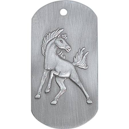 Embossed Dog Tag - Mustang