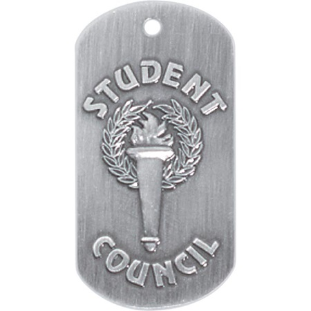 Embossed Dog Tag - Student Council