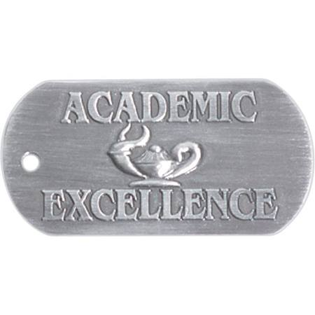 Embossed Dog Tag - Academic Excellence