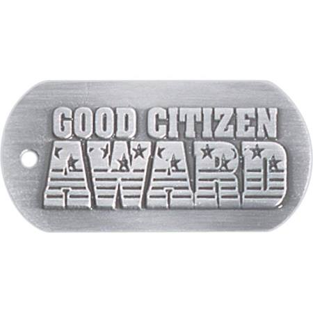 Embossed Dog Tag - Good Citizen Award