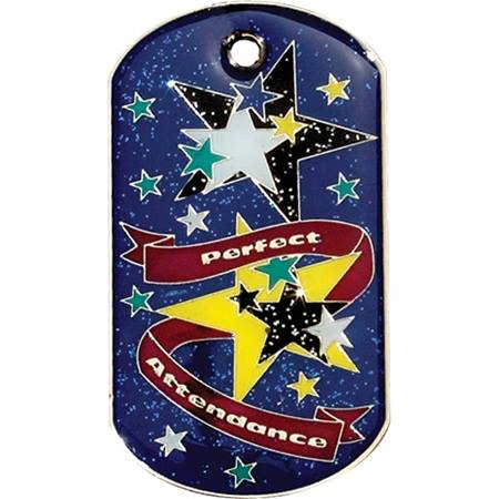 Glitter Dog Tag - Perfect Attendance