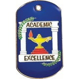 Colored Dog Tag - Academic Excellence