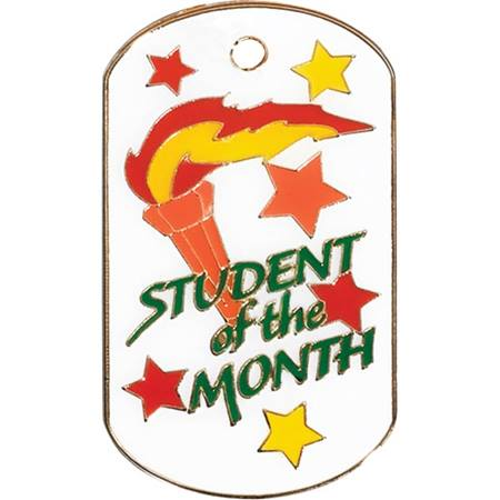 Colored Dog Tag - Student of the Month