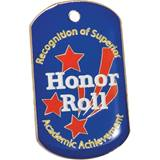 Colored Dog Tag - Honor Roll