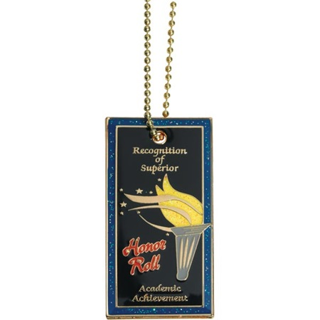 Glitter Rectangle Dog Tag - Honor Roll
