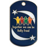 Enamel Dog Tag - Together We Can Be Bully Free