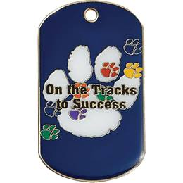 Enamel Dog Tag - On the Tracks to Success