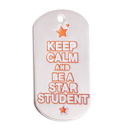 Star Student Colorful Dog Tag