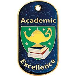Glitter Dog Tag - Academic Excellence