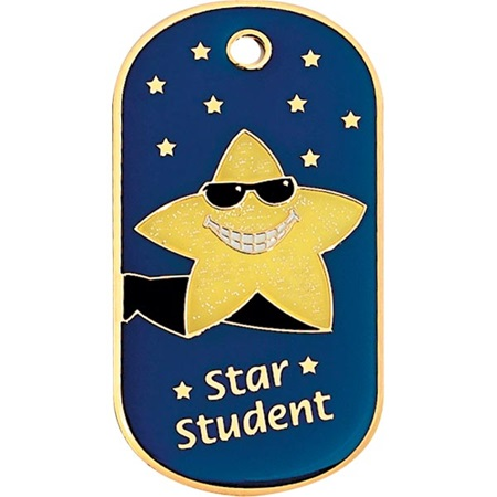 Glitter Dog Tag - Star Student