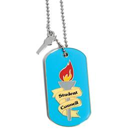 Charm Dog Tag - Student Council Torch