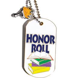 Dog Tag With Charm - Honor Roll