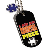 Dog Tag With Charm - Puzzle Piece