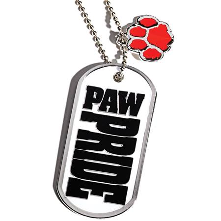 Dog Tag With Charm - Paw Pride