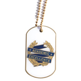Enamel Dog Tag - Academic Excellence