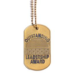 Glitter Dog Tag - Outstanding Leadership Award