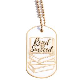 Enamel Dog Tag - Read to Succeed