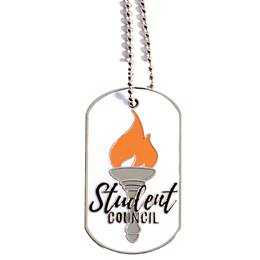 Enamel Dog Tag - Student Council/Torch