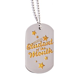 Glitter Dog Tag - Student of the Month