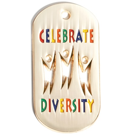 Cut Out Dog Tag - Celebrate Diversity