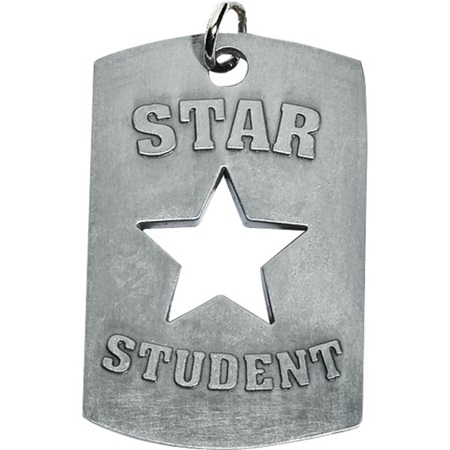 Cut Out Dog Tag - Star Student